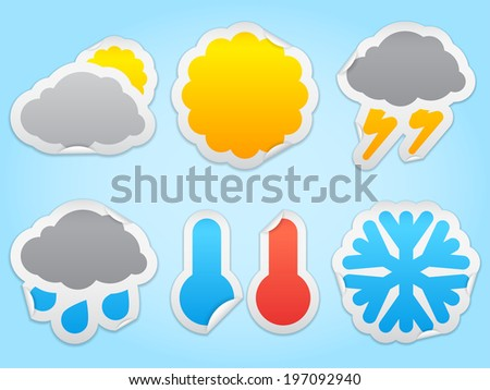 Weather icons. - stock vector