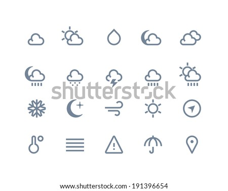 Weather icons. Line series - stock vector