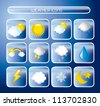 weather icons over blue background. vector illustration - stock