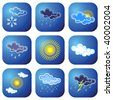 Weather icons. Vector illustration. - stock vector
