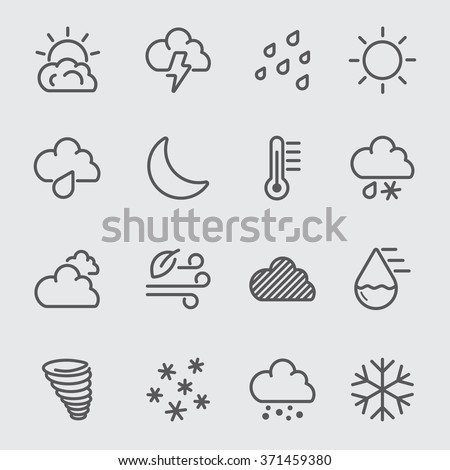 Weather line icon