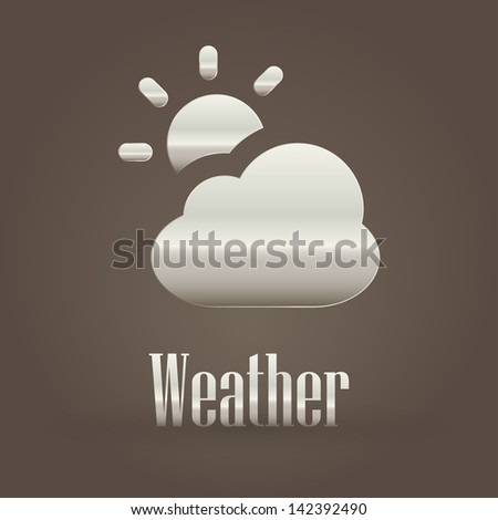 Weather metallic symbol - stock vector