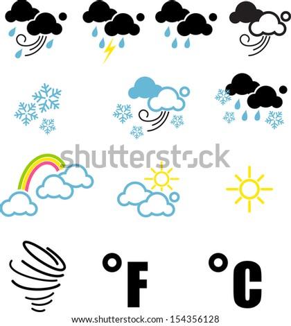 weather symbol - stock vector
