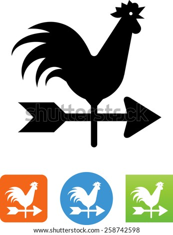 Weather vane symbol for download. Vector icons for video, mobile apps, Web sites and print projects.  - stock vector