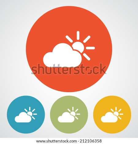 Weather Web icon, vector illustration. Flat design style - stock vector