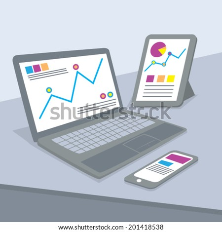 Web Analytics Concept Illustration Vector - stock vector