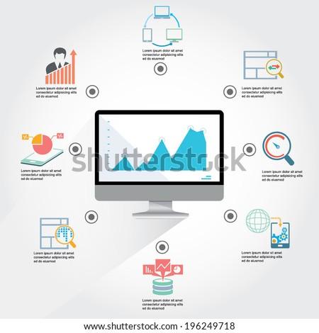 web analytics infographic - stock vector