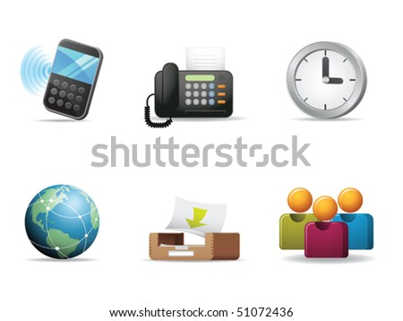 Web and communication icons 2 - stock vector
