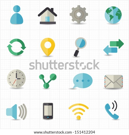 Web and internet icons - stock vector