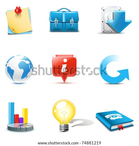Web and internet icons 3 | Bella series - stock vector