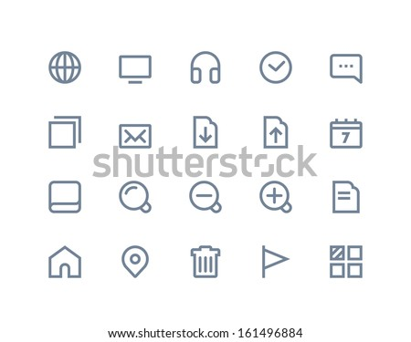 Web and internet icons. Line series - stock vector