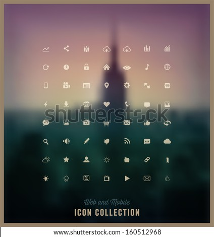 Web and Mobile Icon Collection  - stock vector