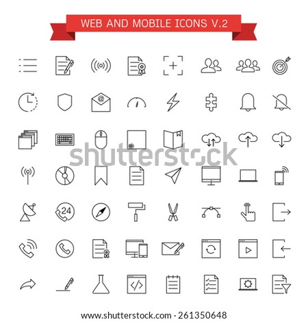 web and mobile icons - stock vector
