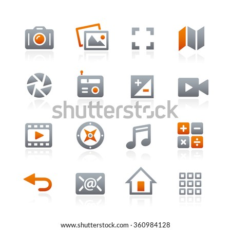 Web and Mobile Icons 5 // Graphite Series - stock vector