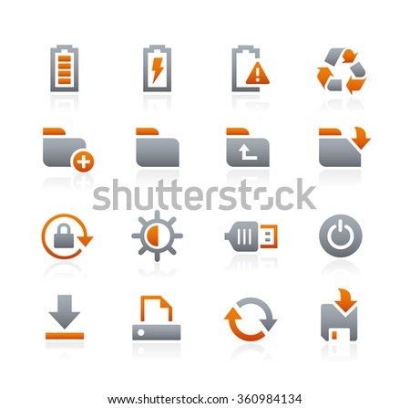 Web and Mobile Icons 3 // Graphite Series - stock vector