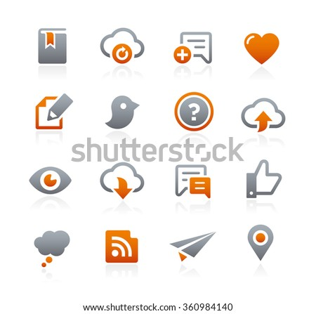 Web and Mobile Icons 8 // Graphite Series - stock vector