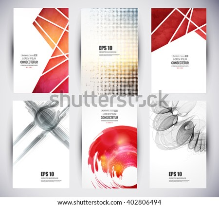 Web and mobile interface template. Abstract vector brochure, Web sites, page, leaflet, logo and text separately - stock vector
