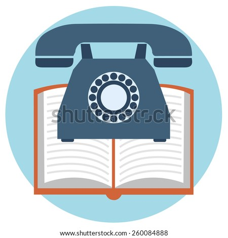 Web and mobile phone services and apps. Icons for faq, newsletter, support, contact - stock vector