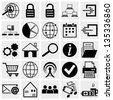 Web and Mobile vector icon set. - stock vector