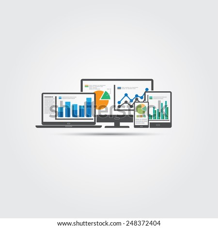 Web and SEO analytics concept - Illustration - stock vector