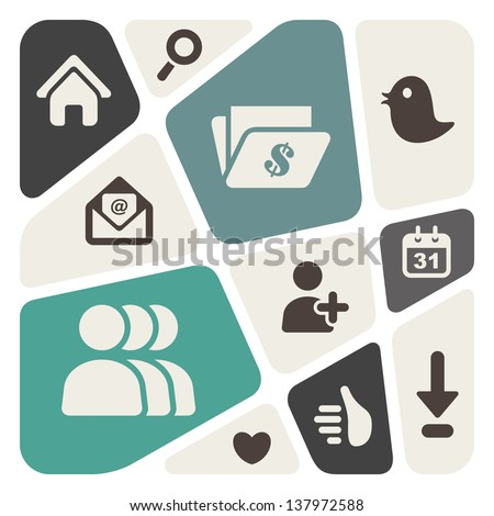 web and social media abstract background - stock vector