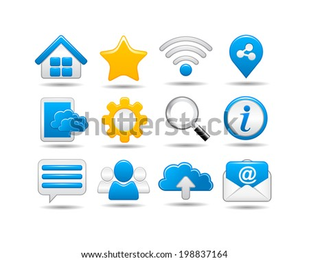 Web and Social media Icon set - stock vector