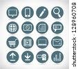 web application icon set - stock vector