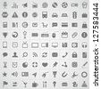 Web application icons collection - stock photo
