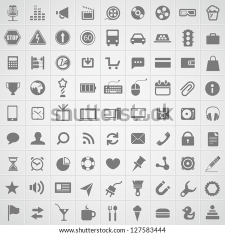 Web application icons collection