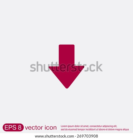 web arrow symbol - stock vector