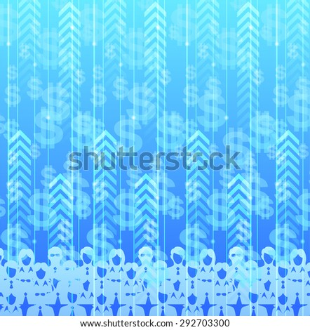 Web background design with data flow theme. - stock vector