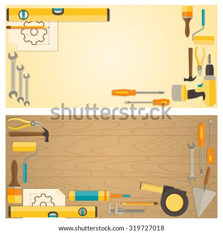Vintage background sewing tools kit over stock photo 262133768 web banner concept of diy shop vector flat design background with do it solutioingenieria Image collections