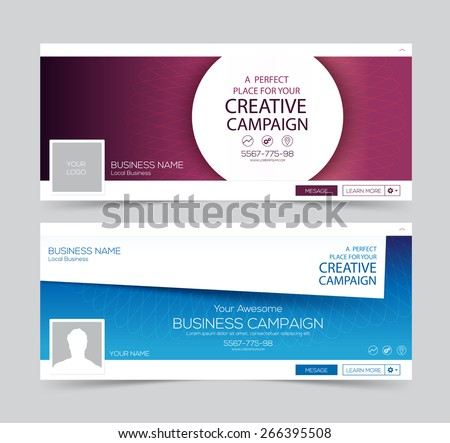 Web Banner, Header Layout Template. Creative cover. Web Banner. - stock vector