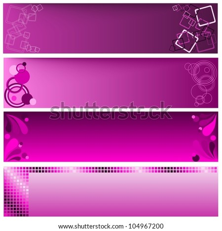 Web banners - stock vector