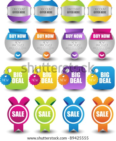 web banners sale tags & labels