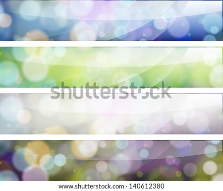 Web banners set - stock vector
