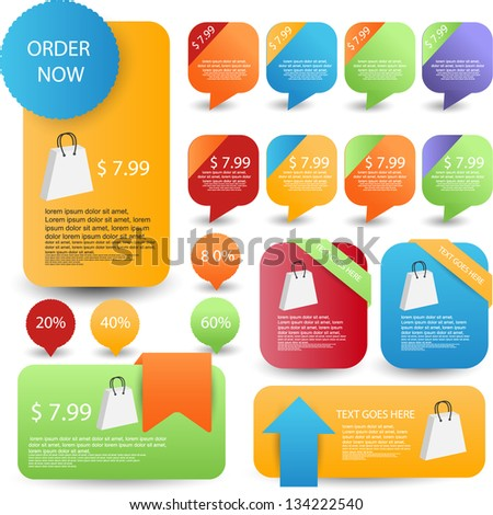web banners set best for sale and advertisement - stock vector