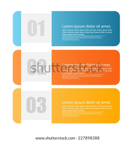 web banners with info-graphics number options. vector - stock vector