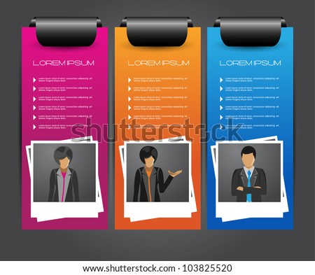 web banners with photo frame - stock vector