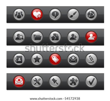 Web Blog & Internet Icons // Button Bar Series - stock vector