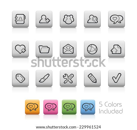 Web Blog // Outline Buttons  ++ Each color in a layer - To select only the desired color, we suggest to block the others colors on the Layer Panel++  EPS 10+ - stock vector