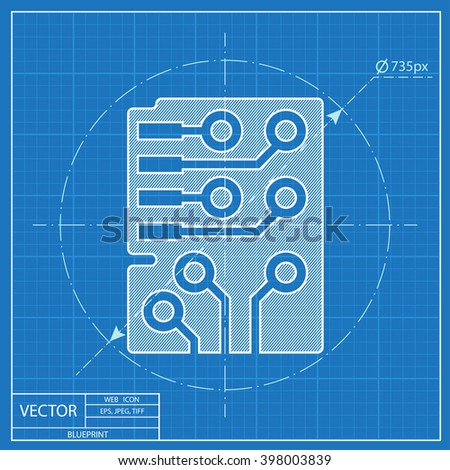Web blueprint icon microchip vector design stock vector 2018 web blueprint icon of microchip vector design malvernweather Choice Image