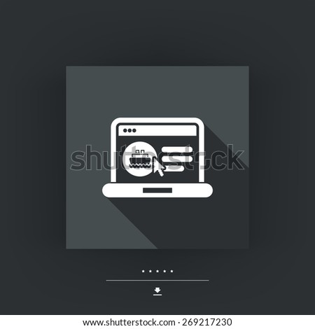 Web boat booking - stock vector