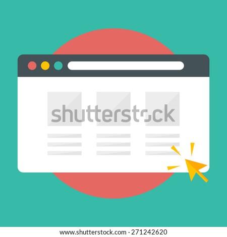 Web Browser Concept - stock vector