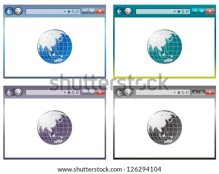 web browser in vector - stock vector
