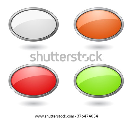 web button and banner template - stock vector