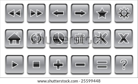 Web Button Vector Illustration - stock vector