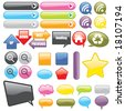 Web Buttons and Icons - stock photo