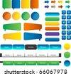 web buttons and speech bubbles set - stock photo