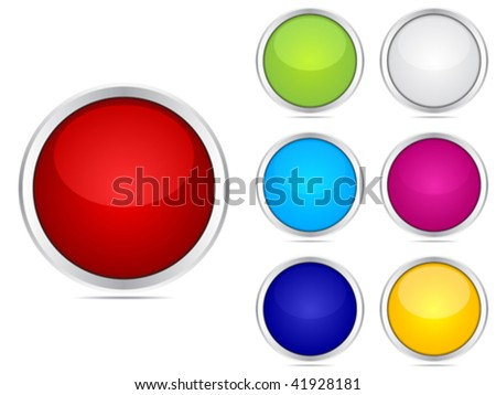 web buttons different colors